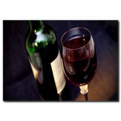 Kırmızı Şarap Kanvas Tablo