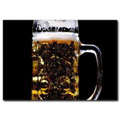 Altın Sarısı Bira Kanvas Tablo