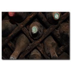 Yıllanmış Şarap Şişeleri Kanvas Tablo