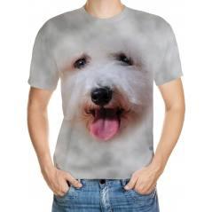 Köpekcik Desenli 3D Tişört