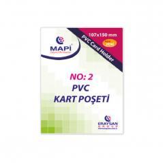Mapi Pvc Kart Poseti No:2 Dikey 100 Adet 9101036