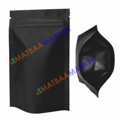 Siyah Aluminyum Kilitli Doypack 13x22,5x3,5 Cm