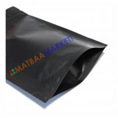 Siyah Aluminyum Kilitli Doypack 16x27x4 Cm