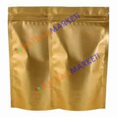 Gold Aluminyum Kilitli Doypack 16x27x4 Cm