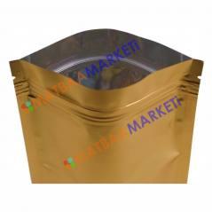 Gold Aluminyum Kilitli Doypack 13x22,5x3,5 Cm