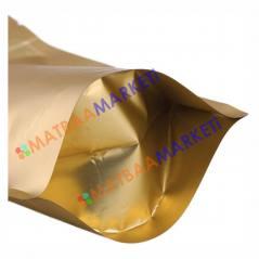 Gold Aluminyum Kilitli Doypack 11x18,5x3,5 Cm