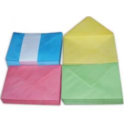 13x18 - 5 Renk Karışık Davetiye Zarfı - 100 Adet