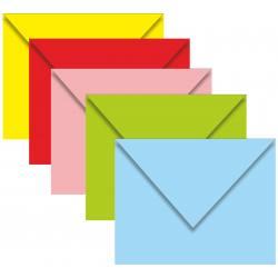 Kartvizit Zarfı - 70x90 - Karışık Renkli - 100 Adet