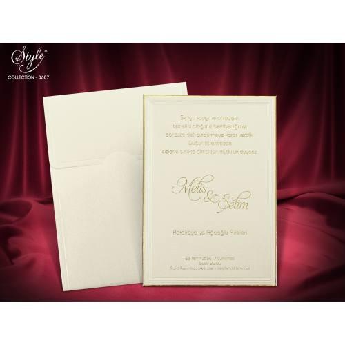 Style Lüks Düğün Kartı 3687